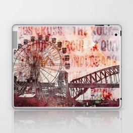 Sydney Luna Park Mixed Media Art Laptop & iPad Skin