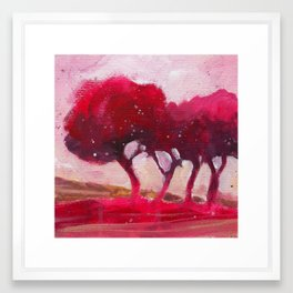 Rose trees Framed Art Print