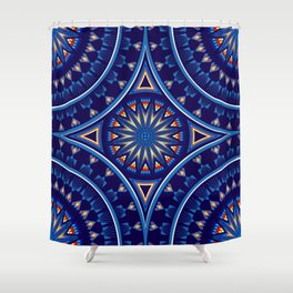 Blue Fire Keepers Shower Curtain
