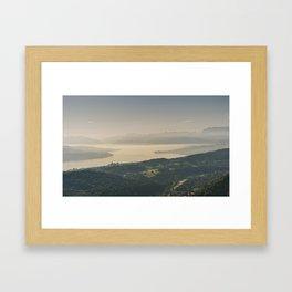 Zürichsee Framed Art Print