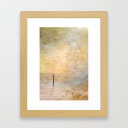 Coastal Sign Framed Art Print