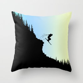 Ski Colors Throw Pillow