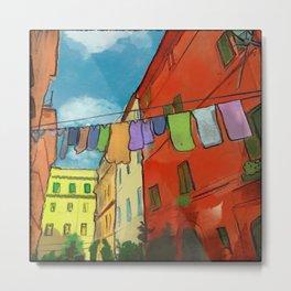 Laundry in Trastevere Metal Print