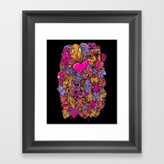 Face Melter Framed Art Print