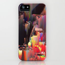 Abstract Contemporary Digital Glitch Painting iPhone Case