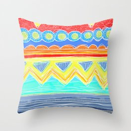 Sunrise Geometrics Throw Pillow