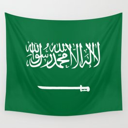National flag of  the Kingdom of Saudi Arabia - Authentic version to scale and color Wall Tapestry