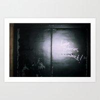 Love stories suck Art Print
