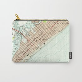 Vintage Map of Wildwood NJ (1955) Carry-All Pouch