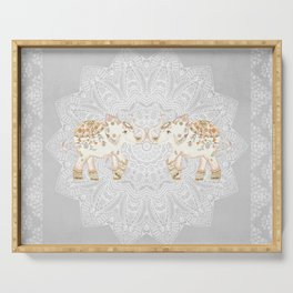 ALHAMBRA ELEPHANT GREY by Monika Strigel Serving Tray