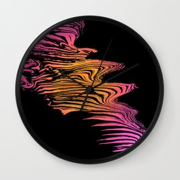 Left to Right Pink and Orange Flow Wall Clock