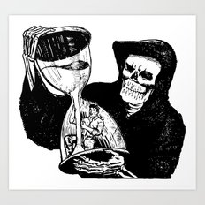 The Reaper's Time Art Print
