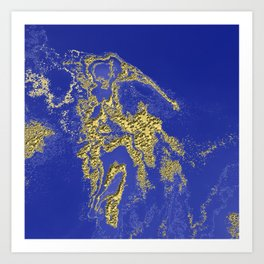 Orencyel : where gold spread in the sky let the message sink in Art Print
