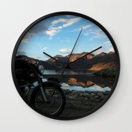 Lonely rider in the evening light...  Wall Clock