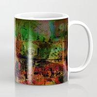 brussels Mugs featuring Quartier des Marolles ( Brussels ) by Ganech joe