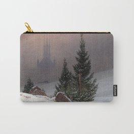 Caspar David Friedrich Winter Landscape Carry-All Pouch