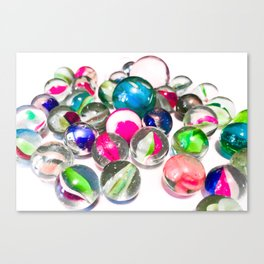Pink Marbles Canvas Print