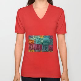 Colored spots in the garden Unisex V-Neck