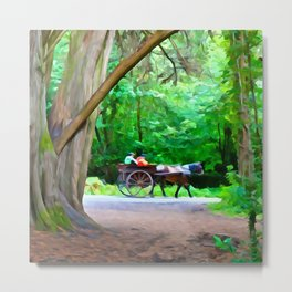 Carriage Ride in Killarney Metal Print