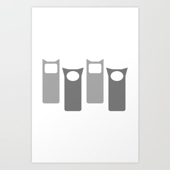 Grey Four Art Print