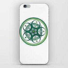 Radial Design Green No. 3 iPhone Skin