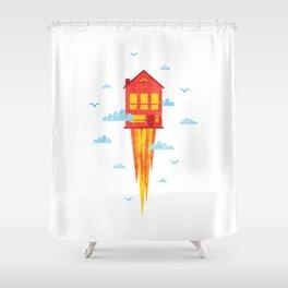Skyrocket Shower Curtain