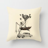 fig Throw Pillows featuring Fig.6. by TRASH RIOT