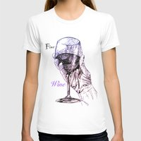 wine T-shirts featuring Fine Wine by Liam Reading