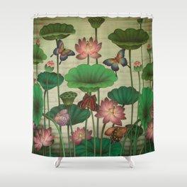 Lotus Painting Shower Curtain