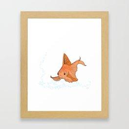 Poisson rouge - illustration Framed Art Print