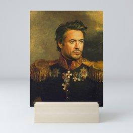 Robert Downey Jr. - replaceface Mini Art Print