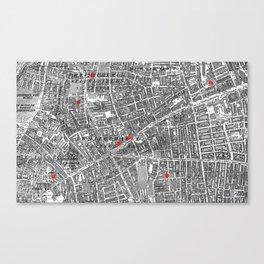 Jack the Ripper / Whitechapel Murders Canvas Print