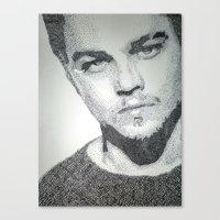 leonardo dicaprio Canvas Prints featuring Leonardo DiCaprio  by Mariam AlJarah