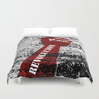 revolution Duvet Covers featuring Revolution by Lord Egon Will