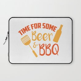 Time For Some Beer & BBQ Cool Summer Weekend Laptop Sleeve