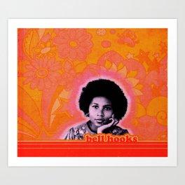 bell hooks retro print Art Print