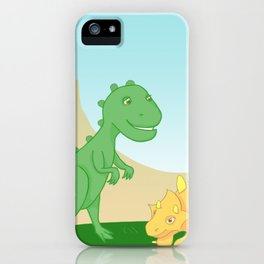 Friendly dinosaurs iPhone Case