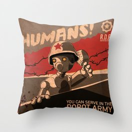 Propaganda Series 6 Throw Pillow