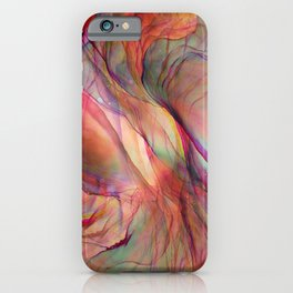Trippy Ink Colorful Abstract Painting iPhone Case
