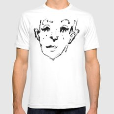 Sketch White Mens Fitted Tee MEDIUM