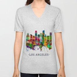 Los Angeles California Skyline Unisex V-Neck