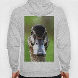 Hello Ducky Quirky Duck Portrait Hoody