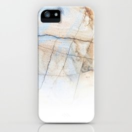 Cotton Latte Marble - Ombre blue and ivory iPhone Case