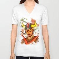 transformer V-neck T-shirts featuring I am a Transformer by Nicolae Negura