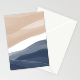 Abstract Watercolor Beach Stationery Cards