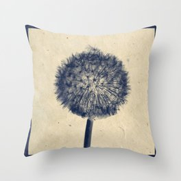 Wishing for a little breeze - Dandelion silhouette Throw Pillow