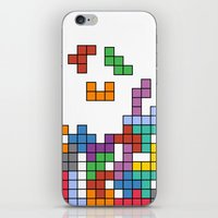 tetris iPhone & iPod Skins featuring Tetris by Adayan
