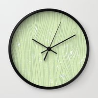 woody Wall Clocks featuring Woody by Sarah McMahon