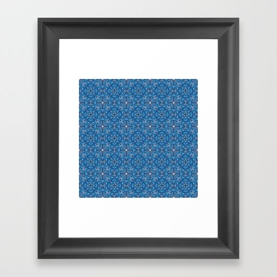 Swirls Pattern Framed Art Print