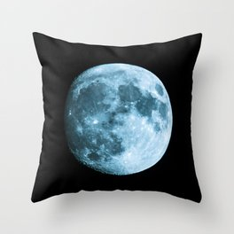 Moon on black background – Space Photography Throw Pillow
